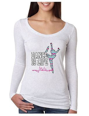 Dance Is Life Aztec Women's Long Sleeve Shirt - ALLNTRENDSHOP