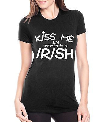 Kiss Me I'M Pretending To Be Irish Women's T-Shirt - ALLNTRENDSHOP - 2