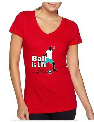 Soccer Ball Is Life Women's Sporty V Shirt - ALLNTRENDSHOP - 5