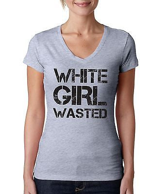 White Girl Wasted Women's Sporty V shirt - ALLNTRENDSHOP - 4