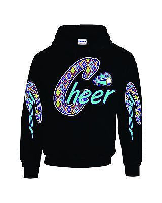 Love Cheer Cheerleader Women's Hooded Sweatshirt - ALLNTRENDSHOP - 2