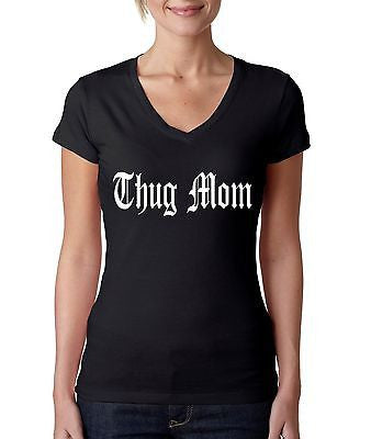 Thug Mom Women's Sporty V shirt - ALLNTRENDSHOP - 1