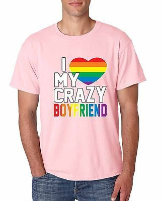 I Love My Crazy Boyfriend Pride Men's T-Shirt - ALLNTRENDSHOP