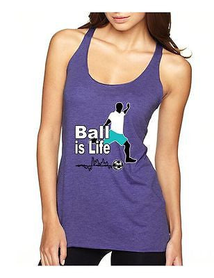 Soccer Ball Is Life Women's Triblend Racerback Tanktop - ALLNTRENDSHOP - 6
