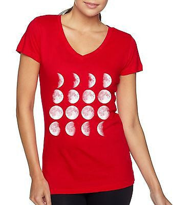 Moon Phase Women's Sporty V Shirt - ALLNTRENDSHOP - 5
