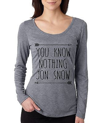 You Know Nothing Jon Snow Women's Long Sleeve Shirt - ALLNTRENDSHOP - 4