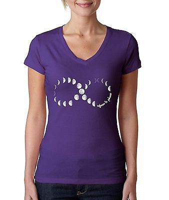 Moon Phases Infinity Women's Sporty V shirt - ALLNTRENDSHOP - 3