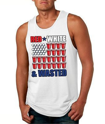 Red White And Wasted Men's Jersey Tanktop - ALLNTRENDSHOP - 2