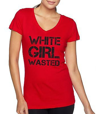 White Girl Wasted Women's Sporty V shirt - ALLNTRENDSHOP - 3