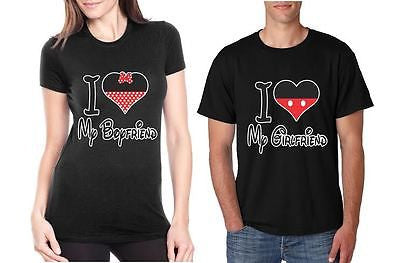 I Love My Boyfriend Love My Girlfriend  Couples T-Shirt - ALLNTRENDSHOP