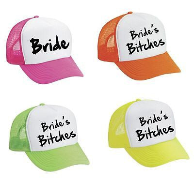 Bride And Bride's Bit**es Bachelorette 4 Trucker Caps - ALLNTRENDSHOP
