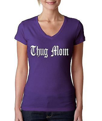 Thug Mom Women's Sporty V shirt - ALLNTRENDSHOP - 3