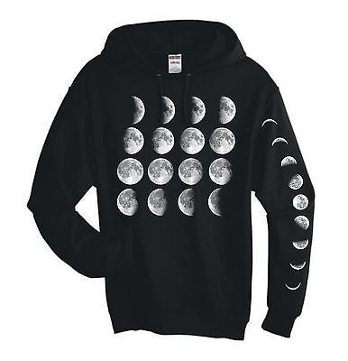 Moon Phases Hooded Sweatshirt - ALLNTRENDSHOP - 1