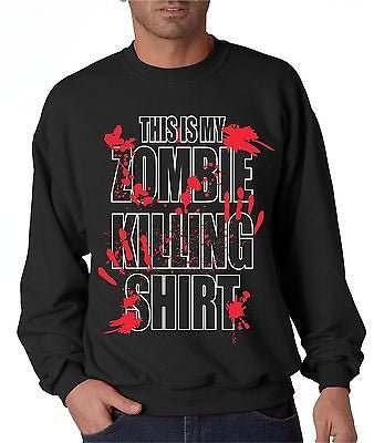 This Is My Zombie Killing Shirt  Men's Sweatshirt - ALLNTRENDSHOP