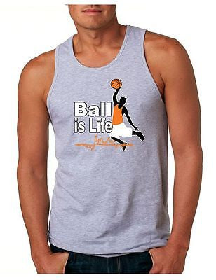 Basketball Ball Is Life Men's Jersey Tanktop - ALLNTRENDSHOP