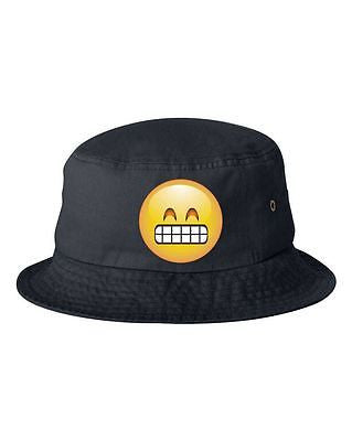 Satisfied Emoji Bucket Cap Hat - ALLNTRENDSHOP - 3