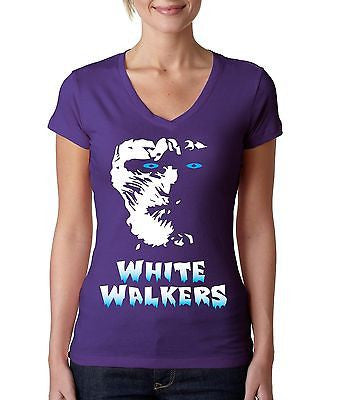 White Walkers Women's Sporty V Shirt - ALLNTRENDSHOP - 3