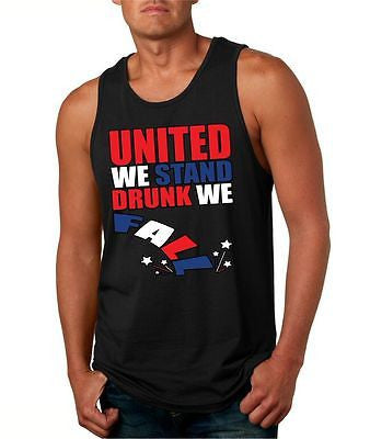 United We Stand Drunk We Fall Men's Jersey Tanktop - ALLNTRENDSHOP - 2
