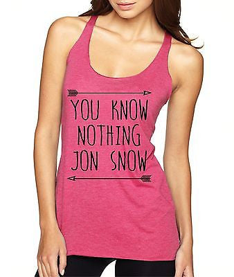 You Know Nothing Jon Snow Women's Triblend Tanktop - ALLNTRENDSHOP - 1