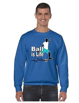 Soccer Ball Is Life Men's Crewneck Sweatshirt - ALLNTRENDSHOP - 5