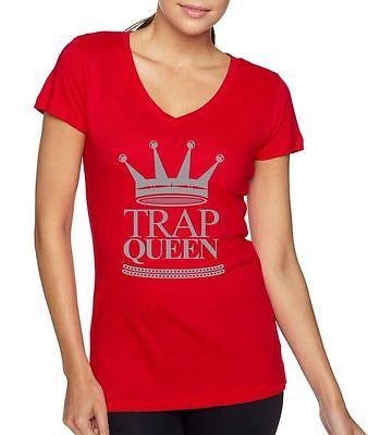 Trap Queen Fetty Wap Women's Sporty V Shirt - ALLNTRENDSHOP - 1
