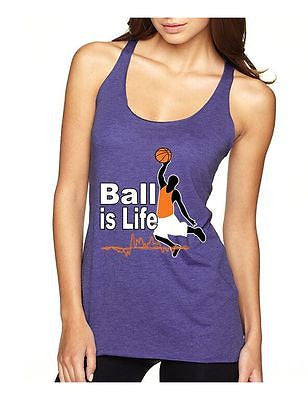 Basketball Ball Is Life Women's Triblend Racerback Tanktop - ALLNTRENDSHOP