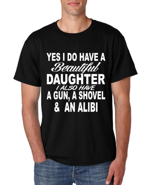 Yes I do have a beautiful daughter men T-shirt - ALLNTRENDSHOP - 3