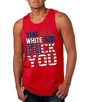 The Red White And F**K You Men's Jersy Tanktop - ALLNTRENDSHOP - 2