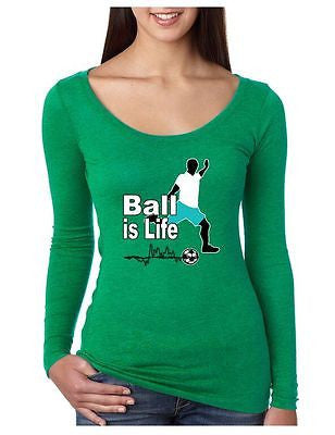 Soccer Ball Is Life Women's Long Sleeve Shirt - ALLNTRENDSHOP - 2