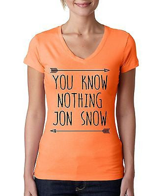 you klnow nothing Jon Snow GOT Women's Sporty V shirt - ALLNTRENDSHOP  - 5