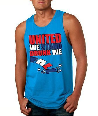 United We Stand Drunk We Fall Men's Jersey Tanktop - ALLNTRENDSHOP - 4