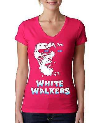 White Walkers Women's Sporty V Shirt - ALLNTRENDSHOP - 2