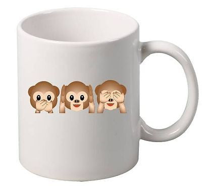 3 Monkey emoticon Mug - ALLNTRENDSHOP