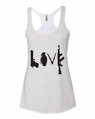 Love Guns Women's Triblend Racerback Tanktop - ALLNTRENDSHOP - 3