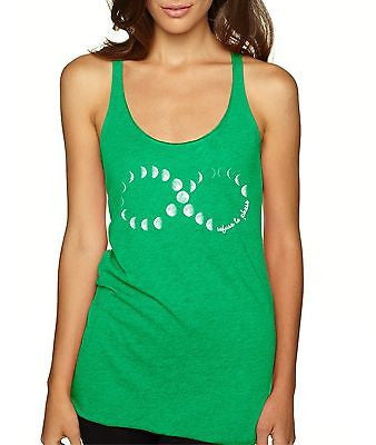 Infinity Moon Phases Women's Triblend Tanktop - ALLNTRENDSHOP - 3