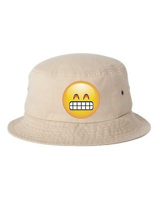 Satisfied Emoji Bucket Cap Hat - ALLNTRENDSHOP - 4
