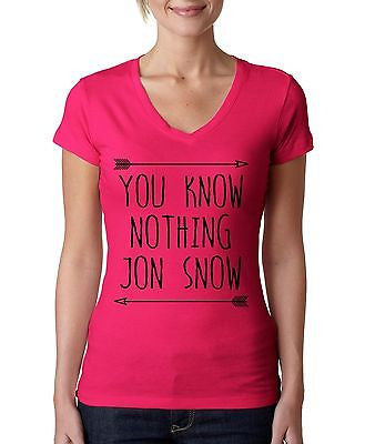 you klnow nothing Jon Snow GOT Women's Sporty V shirt - ALLNTRENDSHOP  - 3