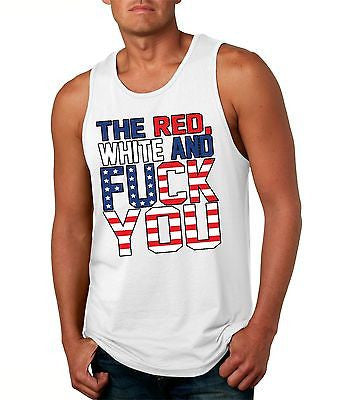 The Red White And F**K You Men's Jersy Tanktop - ALLNTRENDSHOP - 1