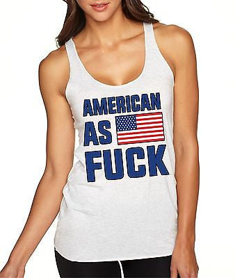 American As F**k 4th Of July Women's Triblend Tanktop - ALLNTRENDSHOP