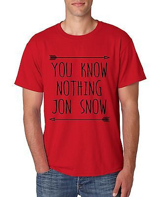 You Know Nothing Jon Snow Game Of Thrones Men's T-Shirt - ALLNTRENDSHOP - 2