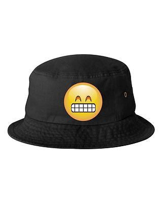 Satisfied Emoji Bucket Cap Hat - ALLNTRENDSHOP - 1