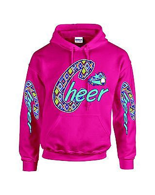 Love Cheer Cheerleader Hooded Sweatshirt - ALLNTRENDSHOP - 1