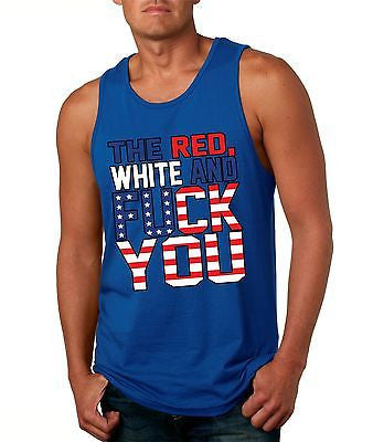 The Red White And F**K You Men's Jersy Tanktop - ALLNTRENDSHOP - 4