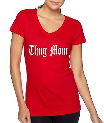 Thug Mom Women's Sporty V shirt - ALLNTRENDSHOP - 4