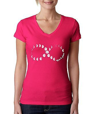 Moon Phases Infinity Women's Sporty V shirt - ALLNTRENDSHOP - 2