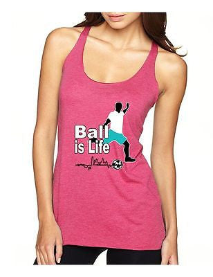 Soccer Ball Is Life Women's Triblend Racerback Tanktop - ALLNTRENDSHOP - 2