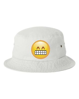Satisfied Emoji Bucket Cap Hat - ALLNTRENDSHOP - 2