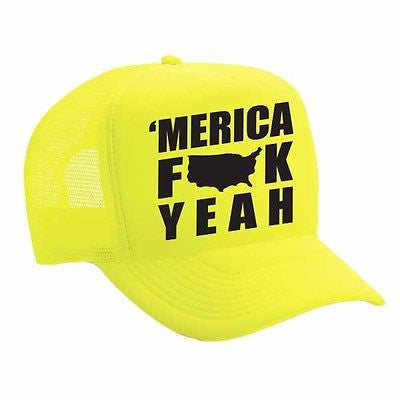 Merica F**k Yeah Single Color Trucker Cap - ALLNTRENDSHOP - 2