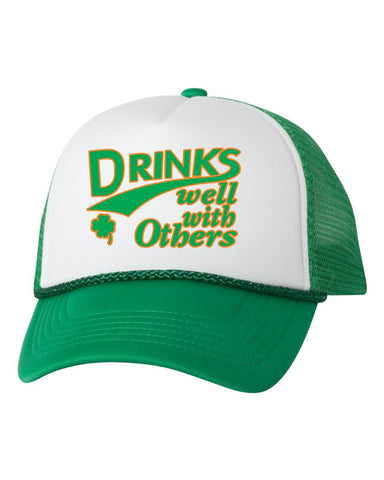 Drinks well with others dual color trucker hat - ALLNTRENDSHOP