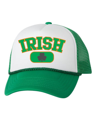 Irish shamrock dual color trucker hat - ALLNTRENDSHOP